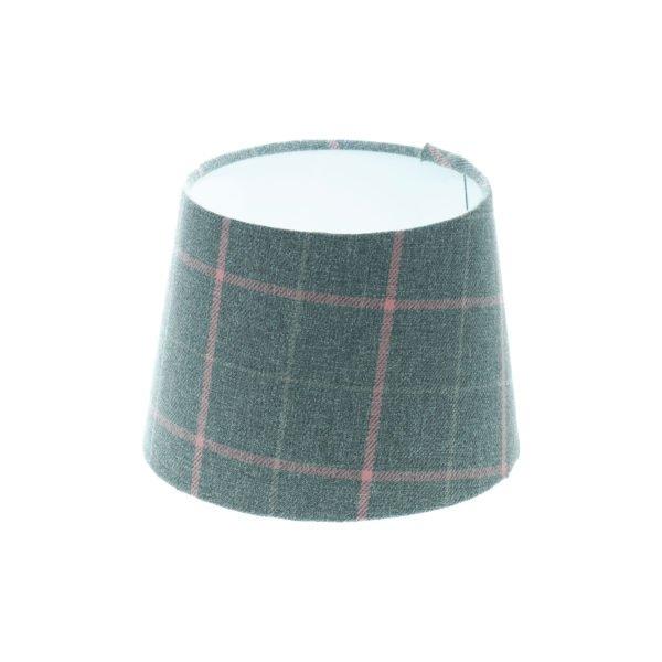 Exford Grey Pink Tartan French Drum Lampshade