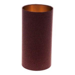 Heather Herringbone Tall Drum Lampshade Brushed Copper Inner