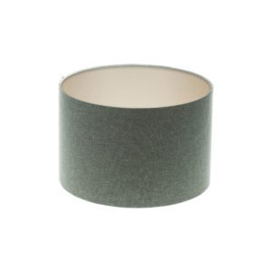 Light Grey Wool Drum Lampshade Champagne Inner