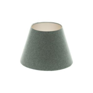 Light Grey Wool Empire Lampshade Champagne Inner