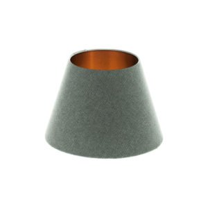 Light Grey Wool Empire Lampshade Brushed Copper Inner