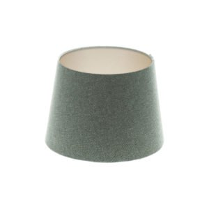 Light Grey Wool French Drum Lampshade Champagne Inner