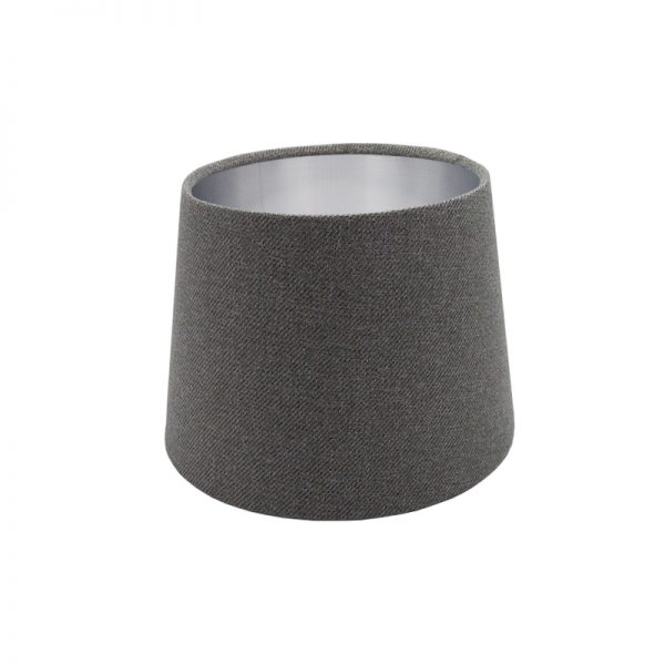 Light Grey Wool French Drum Lampshade