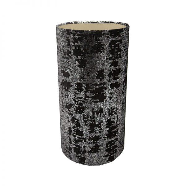 Mercury Black Velvet Tall Drum Lampshade