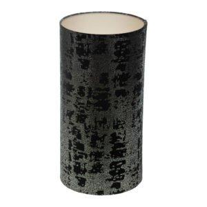 Mercury Black Velvet Tall Drum Lampshade Champagne Inner