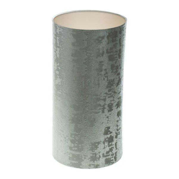 Mercury Dove Grey Velvet Tall Drum Lampshade Champagne Inner