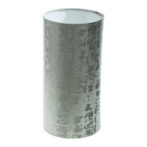 Mercury Dove Grey Velvet Tall Drum Lampshade