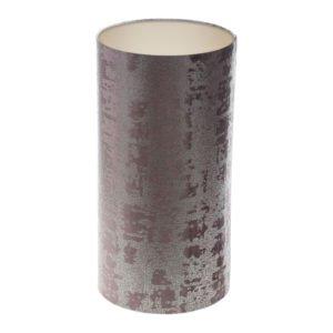 Mercury Lavender Velvet Tall Drum Lampshade Champagne Inner