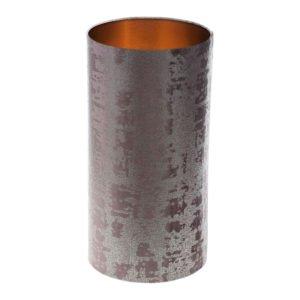Mercury Lavender Velvet Tall Drum Lampshade Brushed Copper Inner