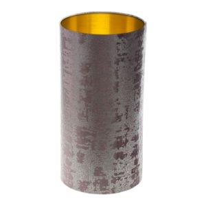 Mercury Lavender Velvet Tall Drum Lampshade Brushed Gold Inner