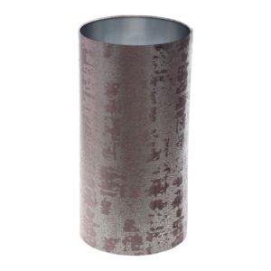 Mercury Lavender Velvet Tall Drum Lampshade Brushed Silver Inner
