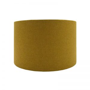 Mustard Yellow Wool Drum Lampshade