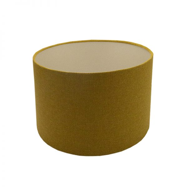 Mustard Yellow Wool Drum Lampshade