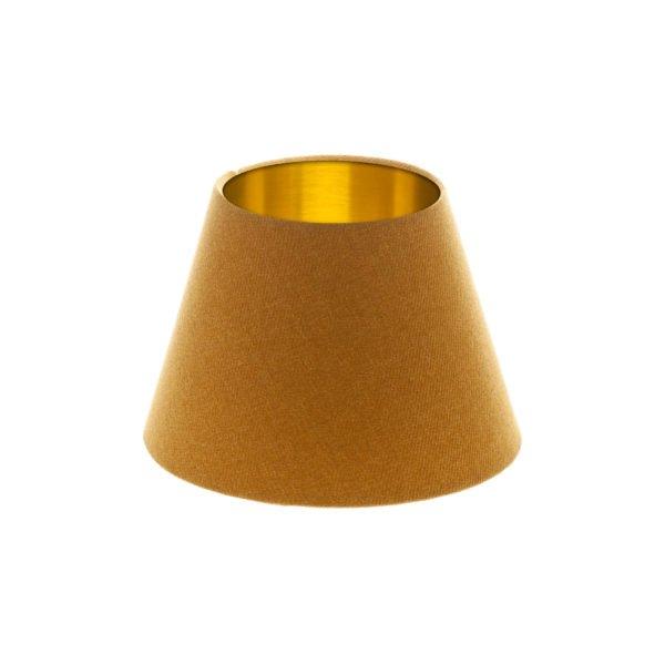 Mustard Yellow Wool Empire Lampshade Brushed Gold Inner