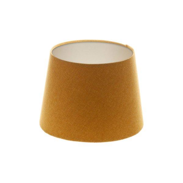 Mustard Yellow Wool French Drum Lampshade Champagne Inner