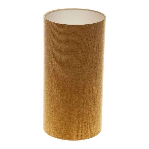 Mustard Yellow Wool Tall Drum Lampshade Champagne Inner