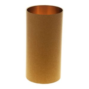 Mustard Yellow Wool Tall Drum Lampshade Brushed Copper Inner