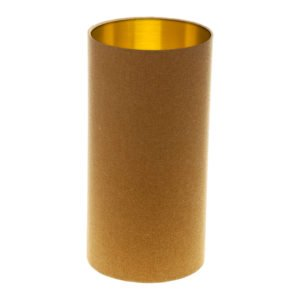 Mustard Yellow Wool Tall Drum Lampshade Brushed Gold Inner