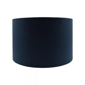 Navy Blue Velvet Drum Lampshade