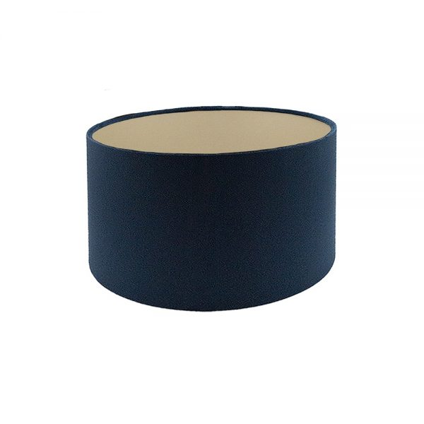 Voyage Navy Blue Velvet Drum Lampshade