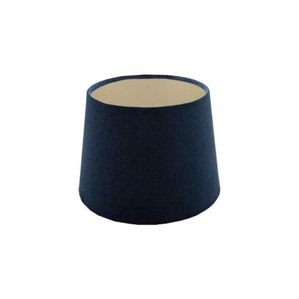 Navy Blue Velvet French Drum Lampshade