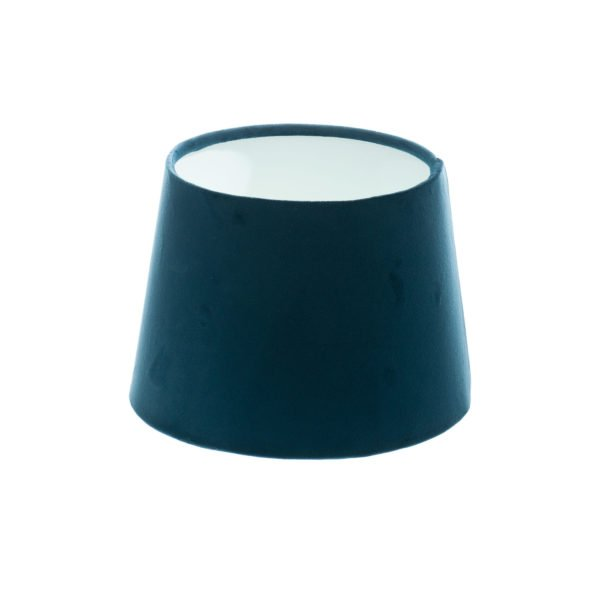 Navy Blue Velvet French Drum Lampshade