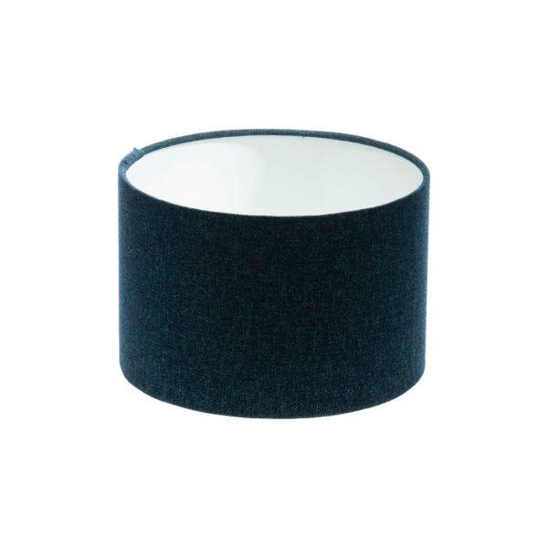 Navy Blue Wool Drum Lampshade