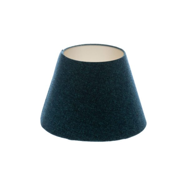 Navy Blue Wool Empire Lampshade Champagne Inner