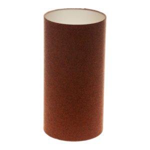 Rust Herringbone Tall Drum Lampshade Champagne Inner