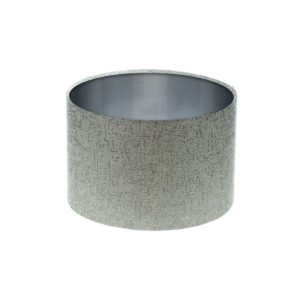 Serpa Dove Grey Drum Lampshade Brushed Silver Inner