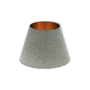 Serpa Dove Grey Empire Lampshade Brushed Copper Inner