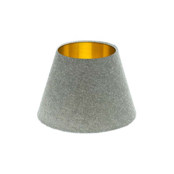 Serpa Dove Grey Empire Lampshade Brushed Gold Inner