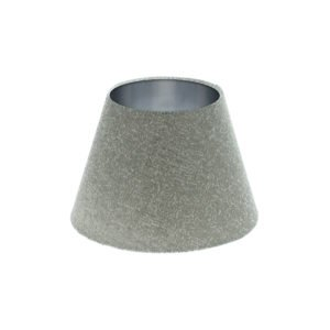 Serpa Dove Grey Empire Lampshade Brushed Silver Inner