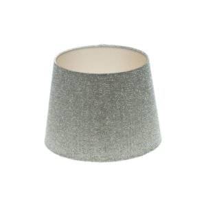 Serpa Dove Grey French Drum Lampshade Champagne Inner
