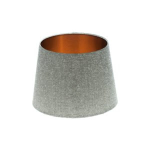 Serpa Dove Grey French Drum Lampshade Brushed Copper Inner