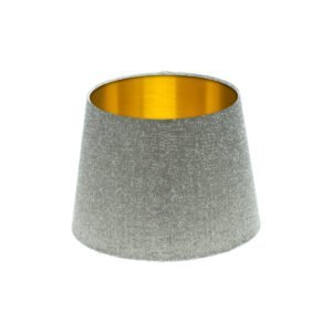 Serpa Dove Grey French Drum Lampshade Brushed Gold Inner