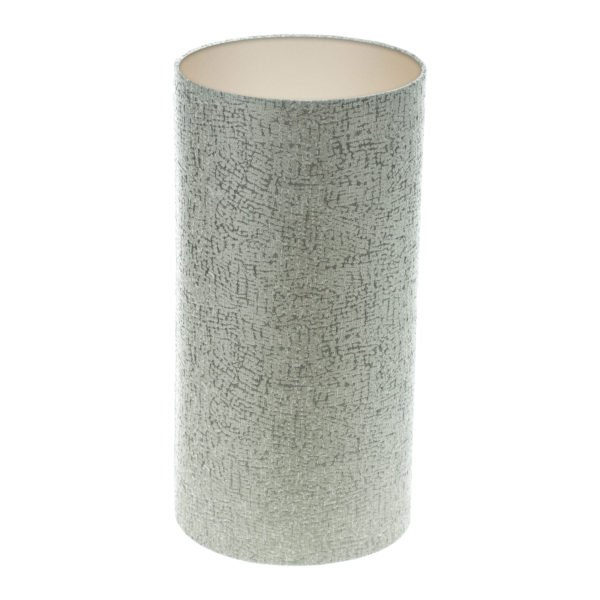 Serpa Dove Grey Tall Drum Lampshade Champagne Inner