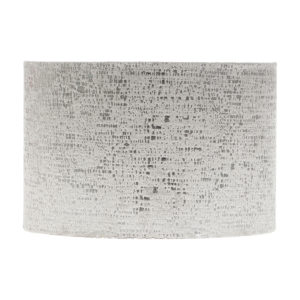 Zink Grey Velvet Drum Lampshade