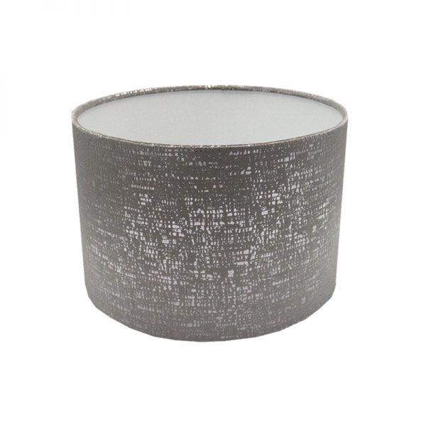 Zink Grey Velvet Drum Lampshade