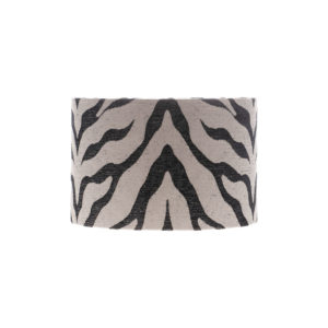Tiger Stripe Grey Black Drum Lampshade