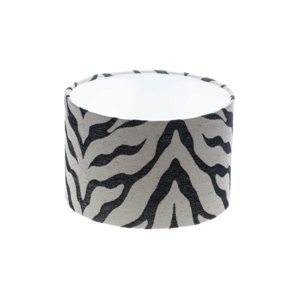 Tiger Stripe Grey Black Drum Lampshade