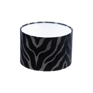 Tiger Stripe Black Grey Drum Lampshade