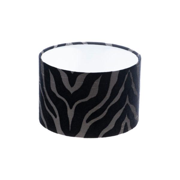 Tiger Stripe Black Grey Drum Lampshade
