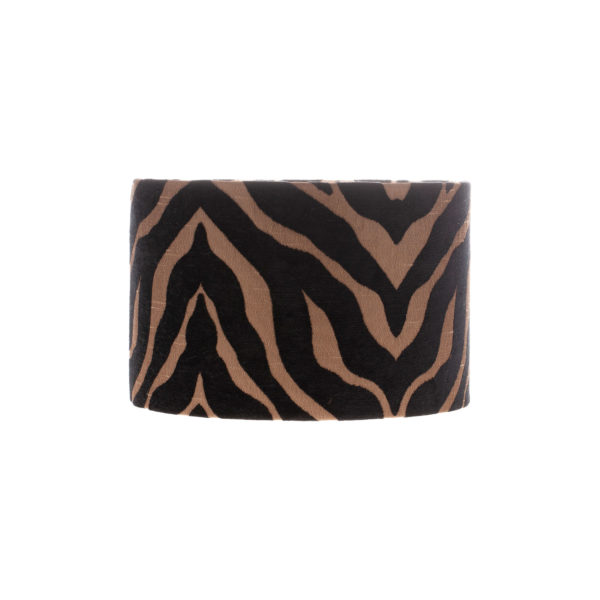 Tiger Stripe Black Bronze Drum Lampshade