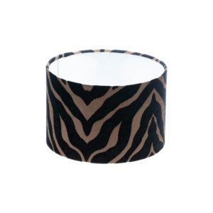 Tiger Stripe Black Bronze Drum Lampshade