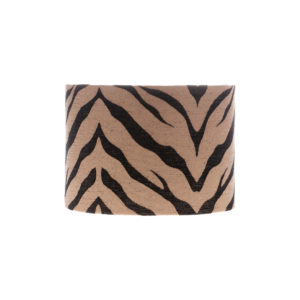 Tiger Stripe Bronze Black Drum Lampshade