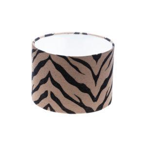 Tiger Stripe Bronze Black Drum Lampshade