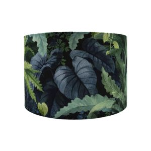 Botanical Leaf Drum Lampshade