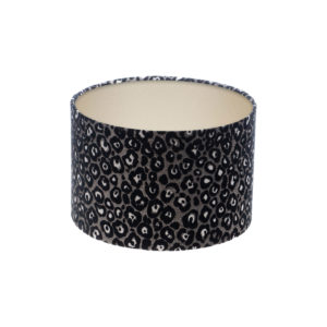 Leopard Print Drum Lampshade Champagne Inner