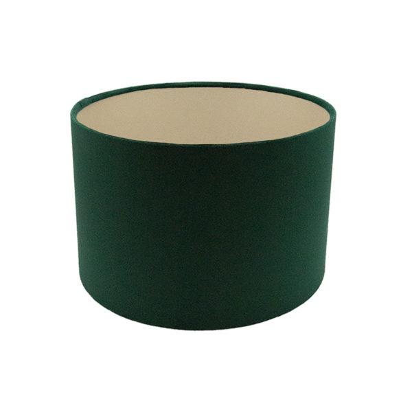 Voyage Emerald Green Velvet Drum Lampshade Champagne Inner